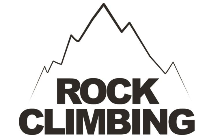 rock climbing logo for dedham health