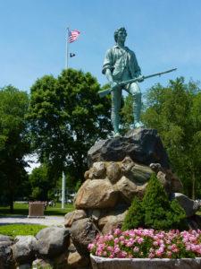 Captain Parker Statue, Lexington MA