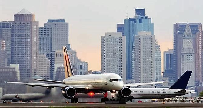 Plane, City View