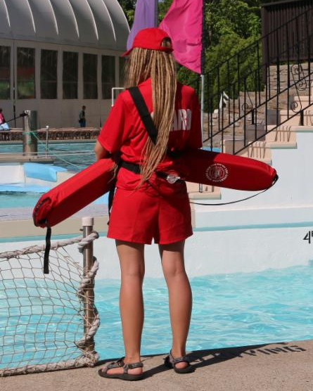 lifeguard watching summer club