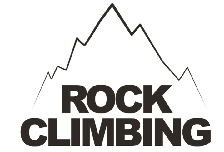 rock climbing logo for dedham health