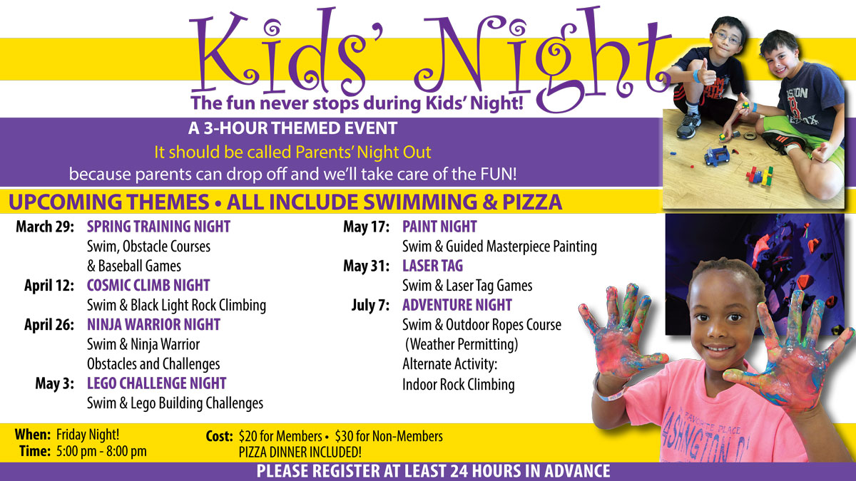 kids night, kids activities, kids care, kids babysitting, kids fun, pizza night, kids camp, kids rocking climbing, kids swim lessons, dedham swim lessons, dedham rock climbing, dedham paint night for kids, dedham crafts for kids