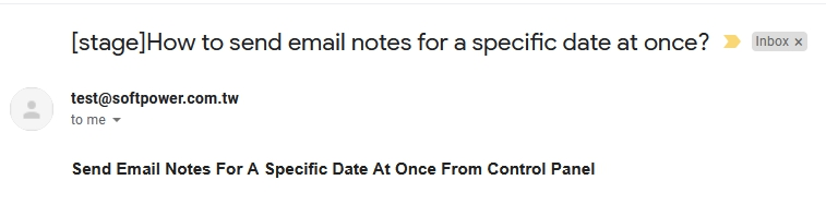 Send Email Notes For A Specific Date At Once From Control Panel