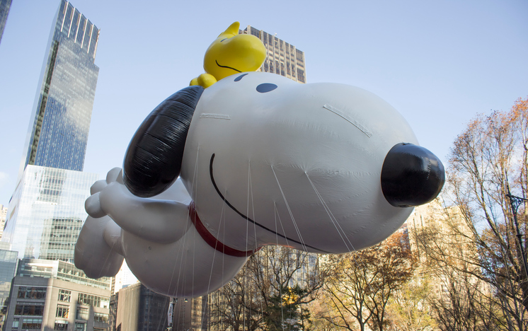 Snoopy Float in Macy's Day Parade