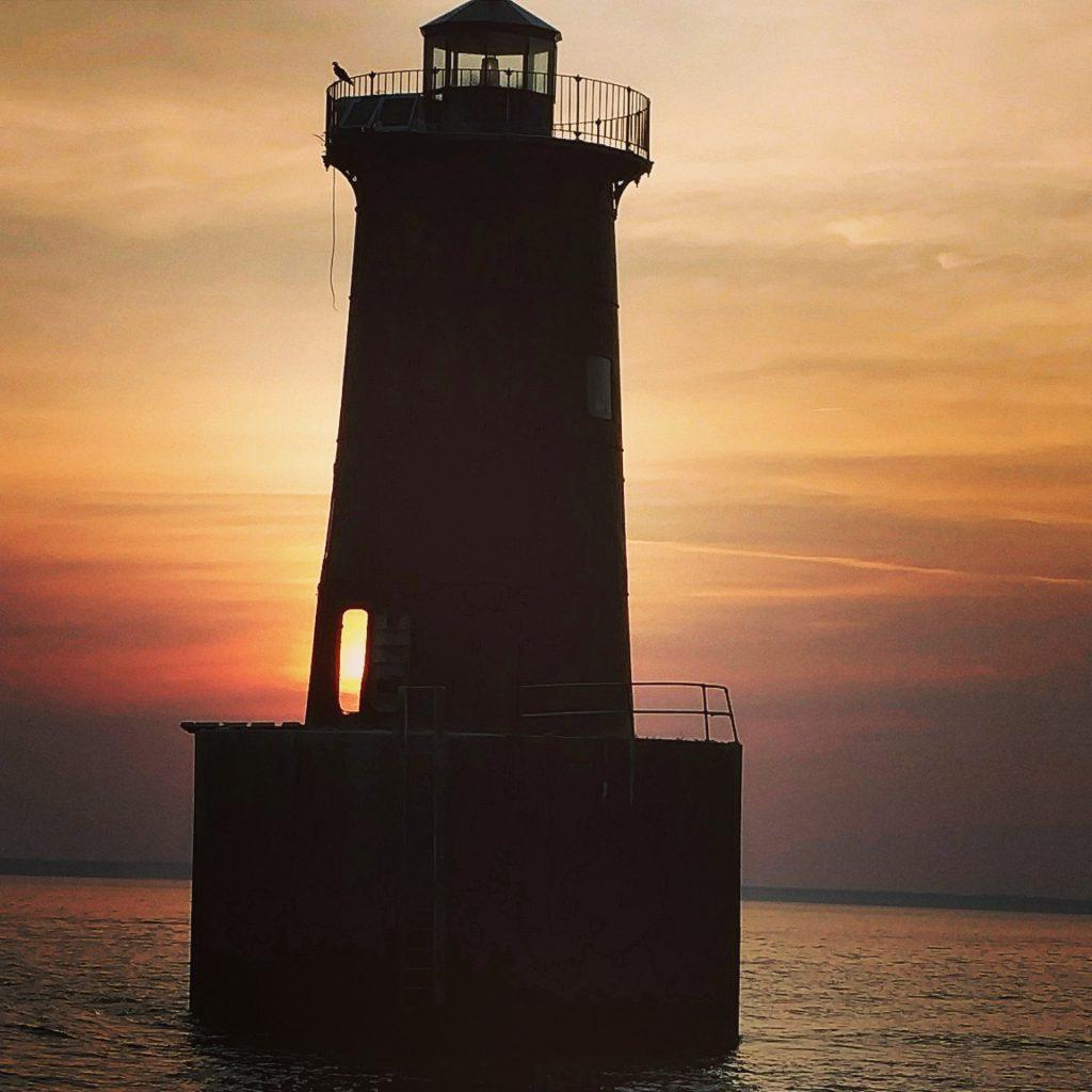 Bloody Point Lighthouse Sunset Door